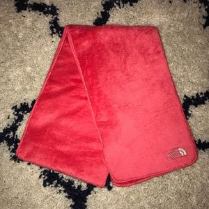 North Face Coral Osito Furry Warm Winter Scarf